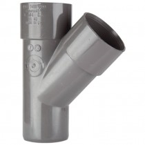 Polypipe 50mm Solvent Weld 45 Degree Junction - Grey