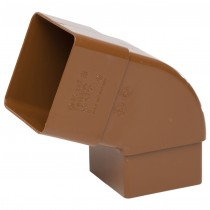 Polypipe 65mm Square Down Pipe 112.5 Degree Offset Bend - Caramel