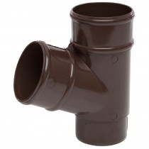 Polypipe 68mm Round Down Pipe 112.5 Degree Branch - Brown
