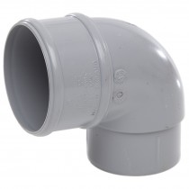 Polypipe 68mm Round Down Pipe 92.5 Degree Offset Bend - Grey