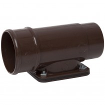 Polypipe 68mm Round Down Pipe Access Pipe - Brown