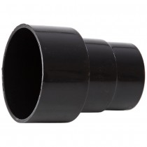 Polypipe 68mm Round Down Pipe Connector to Cast Iron 82mm Round Down Pipe - Black