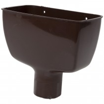 Polypipe 68mm Round Down Pipe Hopper Head - Brown