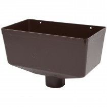 Polypipe 68mm Round Down Pipe Large Hopper Head - Brown
