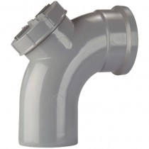 Polypipe 82mm Soil Single 92.5 Degree Access Bend - Grey