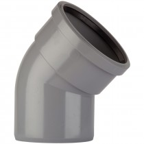 Polypipe 82mm Soil Single Socket 135 Degree Bend - Grey