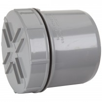 Polypipe 82mm Soil Spigot Tail Screwed Access Cap - Grey
