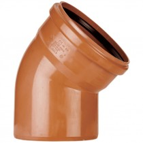 Polypipe 82mm Underground 45 Degree Single Socket Short Radius Bend - Terracotta