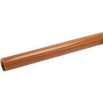 Polypipe 82mm Underground Plain Ended Pipe - Terracotta, 3 metre