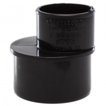 Polypipe Solvent Weld Waste Reducer (50mm to 32mm) - Black