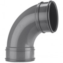 System 2000 110mm Solvent Soil Double Socket 92.5 Degree Bend - Solvent Grey