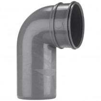 System 2000 110mm Solvent Soil Single Socket 90 Degree Bend - Solvent Grey