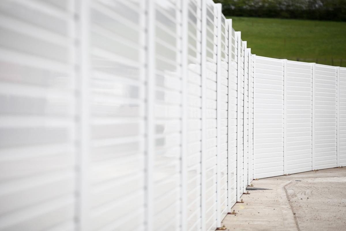 White Plastic Fencing